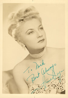 IRENE DAYE - AUTOGRAPHED INSCRIBED PHOTOGRAPH