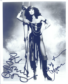 CHER - AUTOGRAPHED SIGNED PHOTOGRAPH CO-SIGNED BY: SONNY BONO