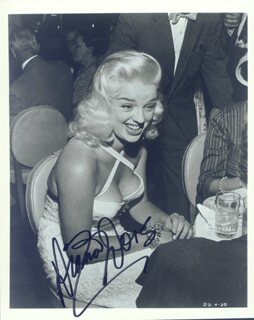 DIANA DORS - AUTOGRAPHED SIGNED PHOTOGRAPH