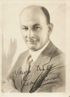 LEON ERROL - AUTOGRAPHED SIGNED PHOTOGRAPH