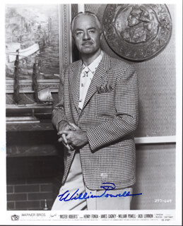 WILLIAM POWELL - AUTOGRAPHED SIGNED PHOTOGRAPH