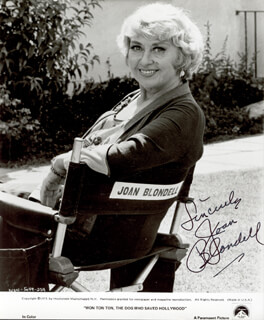 JOAN BLONDELL - AUTOGRAPHED SIGNED PHOTOGRAPH