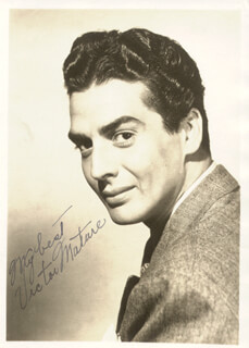 VICTOR MATURE - AUTOGRAPHED SIGNED PHOTOGRAPH
