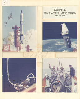Autographs: GEMINI IX CREW - INSCRIBED DOCUMENT SIGNED 06/03/1966 CO-SIGNED BY: CAPTAIN GENE CERNAN, LT. GENERAL THOMAS P. STAFFORD