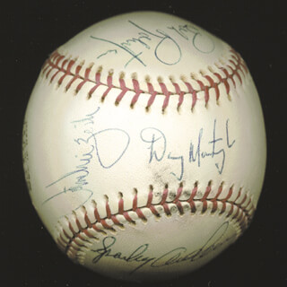 DANNY MURTAUGH - AUTOGRAPHED SIGNED BASEBALL CO-SIGNED BY: BILL ROBINSON, BOB ROBERTSON, SPARKY ANDERSON