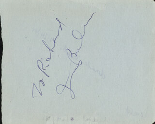 IRVING BERLIN - INSCRIBED SIGNATURE CO-SIGNED BY: BILL LEMASSENA