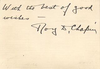 Autographs: ROY D. CHAPIN - AUTOGRAPH NOTE SIGNED