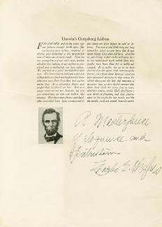 CHIEF JUSTICE CHARLES E HUGHES - AUTOGRAPH SENTIMENT SIGNED