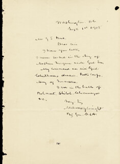 BRIGADIER GENERAL MARCUS J. WRIGHT - AUTOGRAPH LETTER SIGNED 09/01/1915