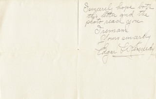 EDGAR KENNEDY - AUTOGRAPH LETTER SIGNED 11/28/1915