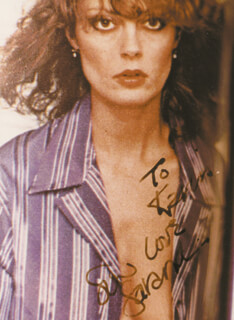 SUSAN SARANDON - AUTOGRAPHED INSCRIBED PHOTOGRAPH