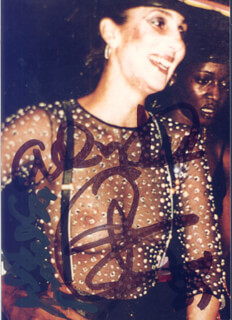 CHER - AUTOGRAPHED SIGNED PHOTOGRAPH 1987 CO-SIGNED BY: SONNY BONO