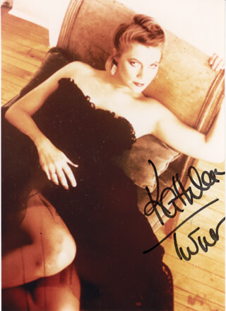KATHLEEN TURNER - AUTOGRAPHED SIGNED PHOTOGRAPH CIRCA 1988