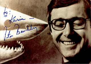 PETER BENCHLEY - AUTOGRAPHED INSCRIBED PHOTOGRAPH