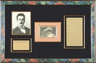 GIACOMO PUCCINI - PICTURE POST CARD SIGNED 06/28/1906