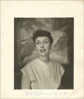 JOYCE GRENFELL - INSCRIBED PHOTOGRAPH MOUNT SIGNED