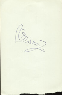 LAURENCE OLIVIER - AUTOGRAPH CO-SIGNED BY: FREDA JACKSON