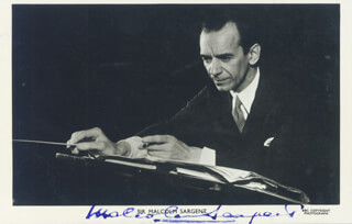 MALCOLM SARGENT - PICTURE POST CARD SIGNED
