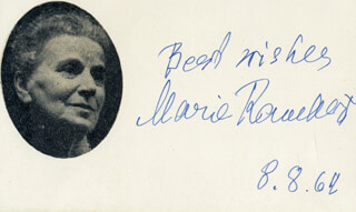 DAME MARIE MYRIAM RAMBERT - AUTOGRAPH SENTIMENT SIGNED 08/08/1964