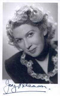 JOY ADAMSON - AUTOGRAPHED SIGNED PHOTOGRAPH
