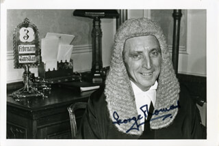 GEORGE THOMAS - AUTOGRAPHED SIGNED PHOTOGRAPH