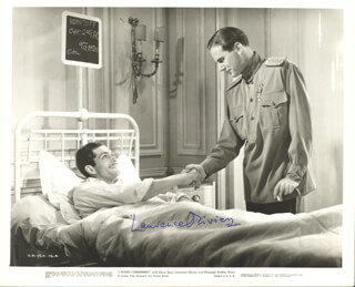LAURENCE OLIVIER - AUTOGRAPHED SIGNED PHOTOGRAPH