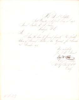 MAJOR GENERAL GEORGE WASHINGTON GETTY - MANUSCRIPT LETTER SIGNED 01/15/1873