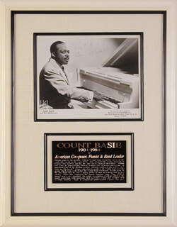 COUNT BASIE - AUTOGRAPHED SIGNED PHOTOGRAPH