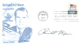 PRESIDENT RICHARD M. NIXON - INAUGURATION DAY COVER SIGNED