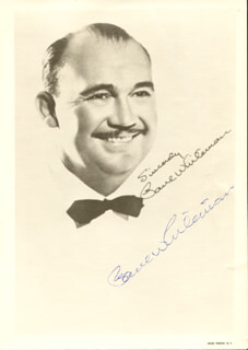 PAUL POPS WHITEMAN - AUTOGRAPHED SIGNED PHOTOGRAPH CIRCA 1961