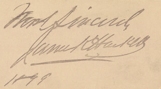 JAMES K. HACKETT - AUTOGRAPH SENTIMENT SIGNED 1899