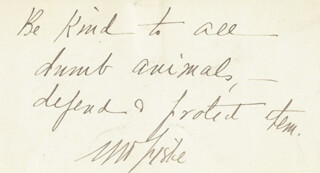 MINNIE MADDERN FISKE - AUTOGRAPH QUOTATION SIGNED