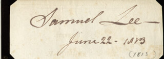 Autographs: REAR ADMIRAL SAMUEL PHILLIPS LEE - SIGNATURE(S) 06/22/1873