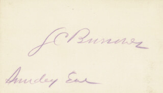 Autographs: JULIUS C. BURROWS - SIGNATURE(S)