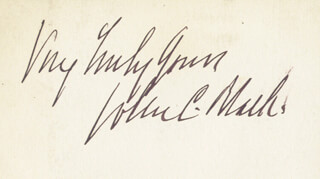 Autographs: BRIGADIER GENERAL JOHN C. BLACK - AUTOGRAPH SENTIMENT SIGNED