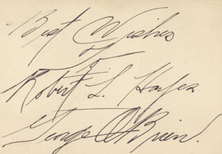 GEORGE O'BRIEN - AUTOGRAPH NOTE SIGNED