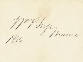 WILLIAM P. FRYE - AUTOGRAPH 1886