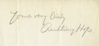 Autographs: SIR ANTHONY HOPE HAWKINS - AUTOGRAPH SENTIMENT SIGNED