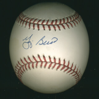 Autographs: YOGI BERRA - BASEBALL SIGNED CO-SIGNED BY: BOB FELLER, JOHNNY MIZE, FRANK ROBINSON, ENOS SLAUGHTER