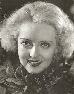 BETTE DAVIS - INSCRIBED MAGAZINE PHOTO SIGNED