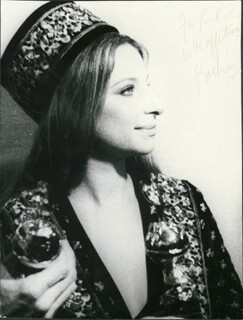 BARBRA STREISAND - AUTOGRAPHED INSCRIBED PHOTOGRAPH
