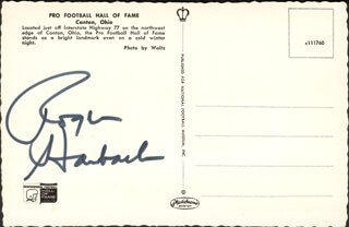 ROGER STAUBACH - PICTURE POST CARD SIGNED