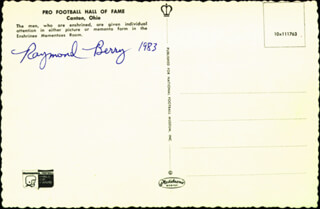 Autographs: RAYMOND BERRY - PICTURE POST CARD SIGNED 1983