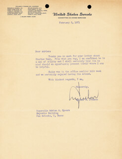 PRESIDENT LYNDON B. JOHNSON - TYPED LETTER SIGNED 02/02/1951