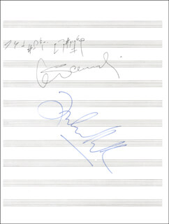 KRZYSTOF PENDERECKI - AUTOGRAPH MUSICAL QUOTATION SIGNED CIRCA 1980 CO-SIGNED BY: ZUBIN MEHTA