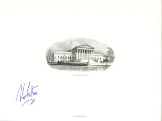 ASSOCIATE JUSTICE ABE FORTAS - ENGRAVING SIGNED