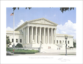 Autographs: ASSOCIATE JUSTICE TOM C. CLARK - PHOTOGRAPH SIGNED