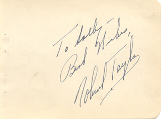 ROBERT TAYLOR - AUTOGRAPH NOTE SIGNED
