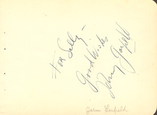 JOHN GARFIELD - AUTOGRAPH NOTE SIGNED
