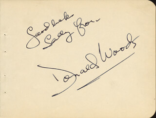 MONTY THE BEARD WOOLLEY - AUTOGRAPH NOTE SIGNED CO-SIGNED BY: DONALD WOODS
